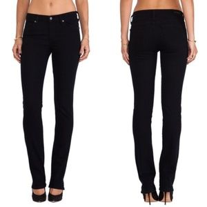 CoH sz28 black Elson med rise straight leg jeans